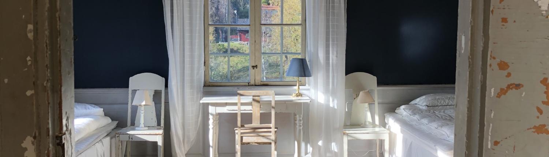Malingsbo herrgard - Bla rummet Kontorsflygen